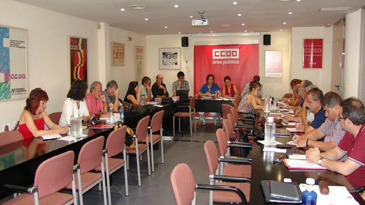 Reunión del Área Pública de CCOO