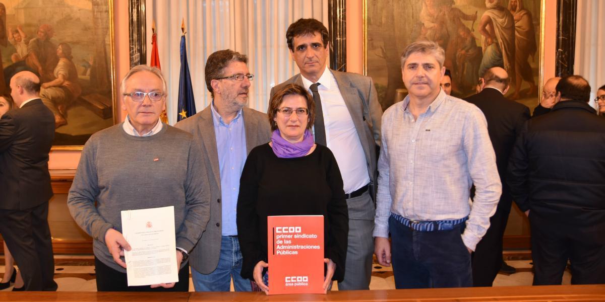 Firma del Acuerdo para la mejora del empleo y de las condiciones de trabajo