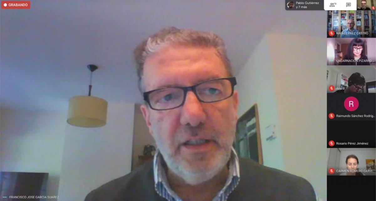 Francisco García en la rueda de prensa virtual