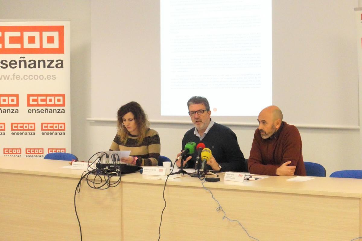 Presentación del informe de Enseñanza Privada y Servicios Socioeducativos elaborado por FECCOO.