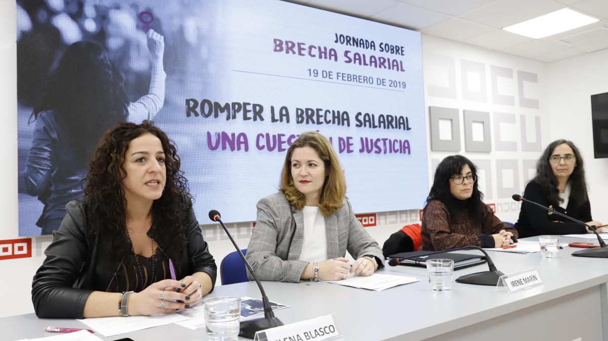 Elena Blaco presenta el informe sobre la brecha salarial