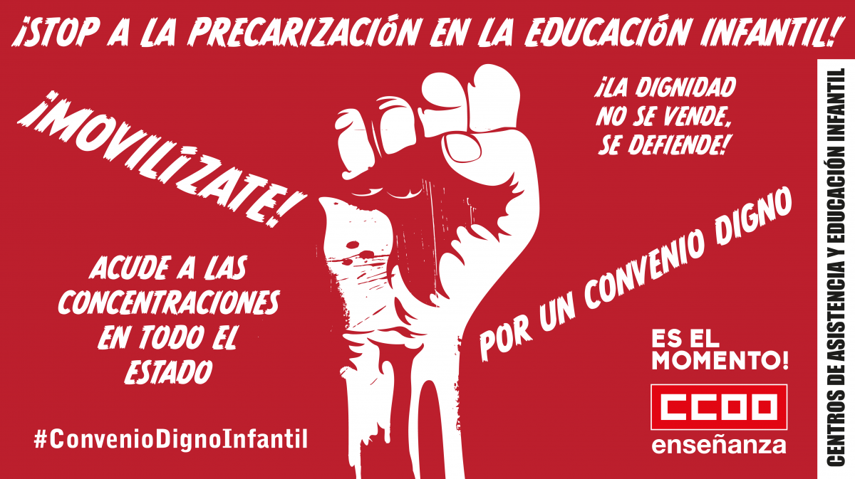 21 de mayo, huelga en el primer ciclo de Educación Infantil