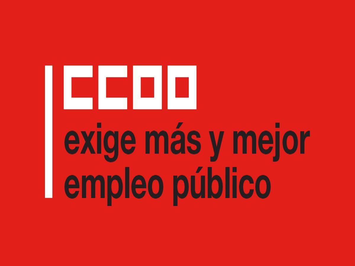 CCOO exige más y mejor empleo público