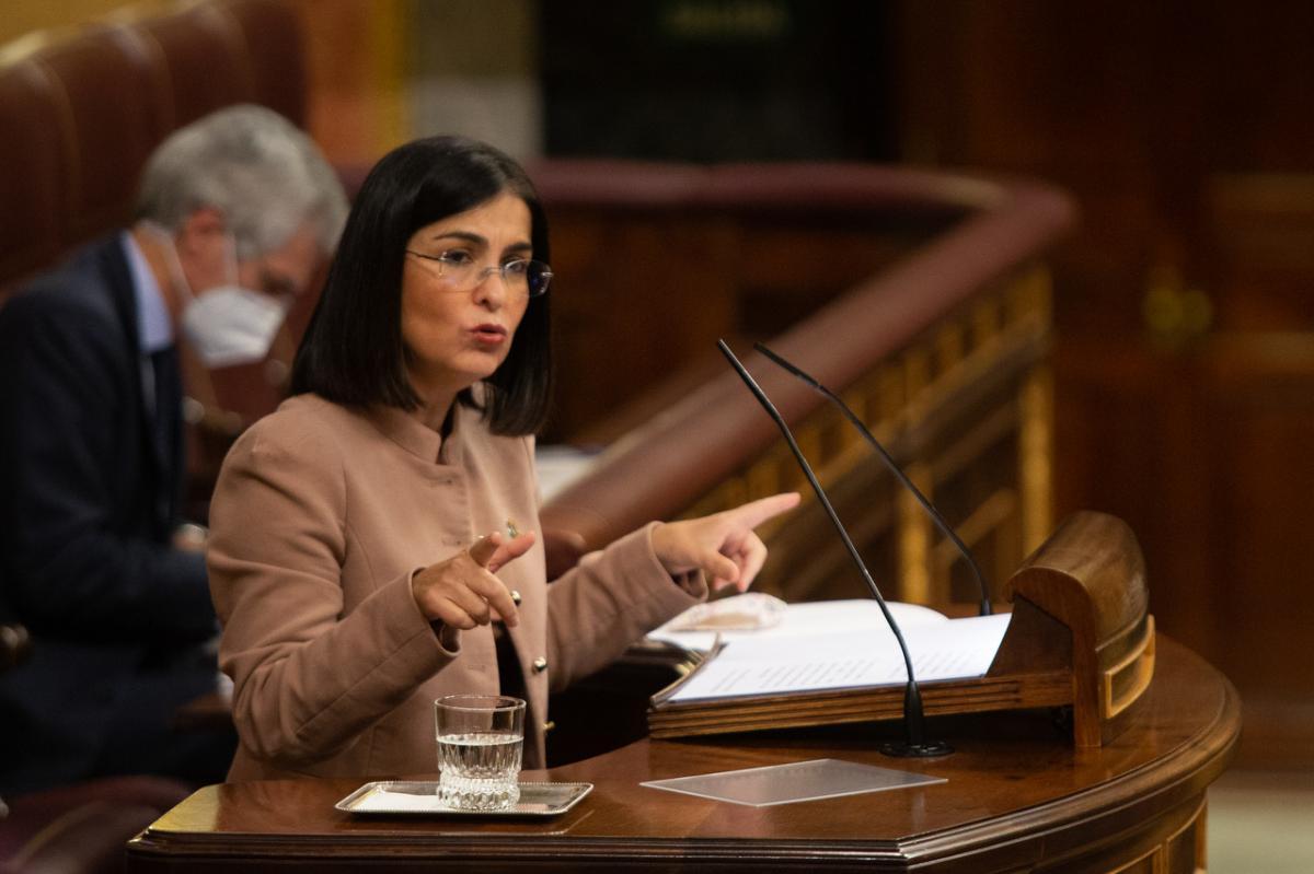 Carolina Darias, en una intervención reciente en el Congreso de los Diputados.