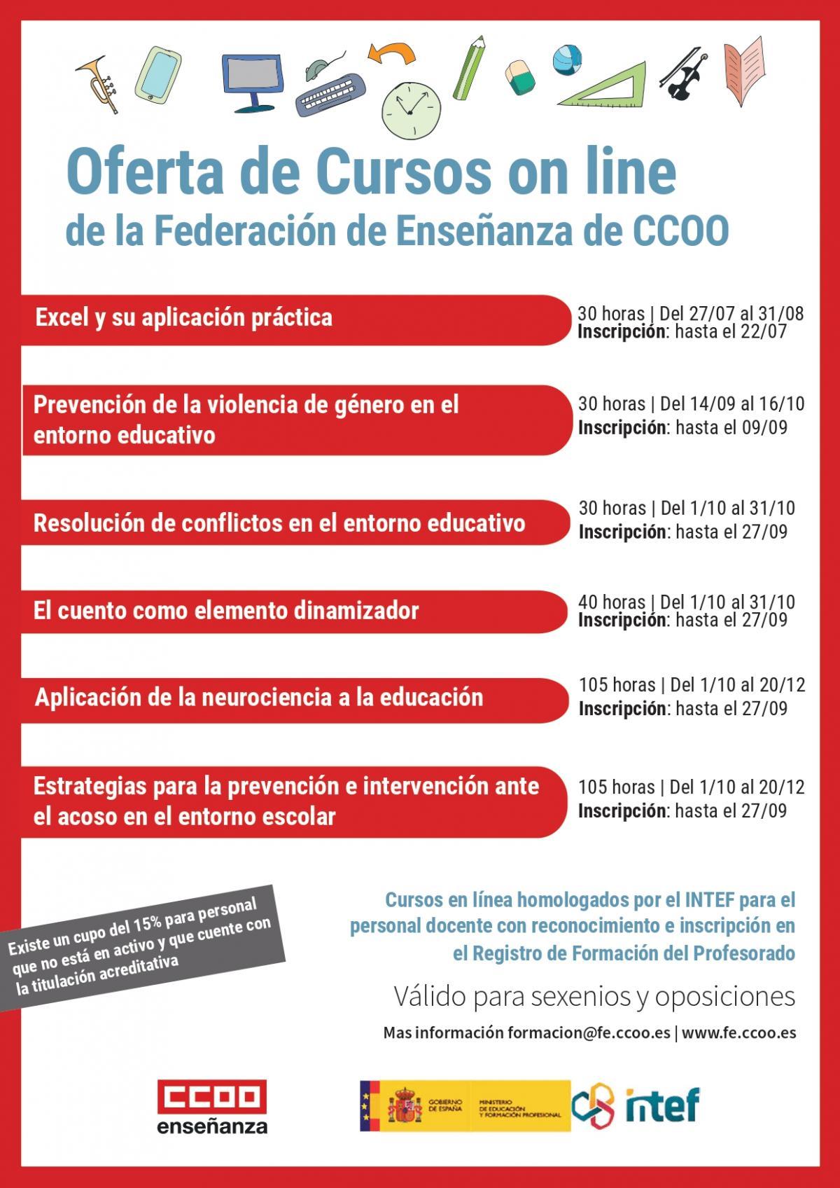 Apúntate a los próximos cursos en línea de FECCOO