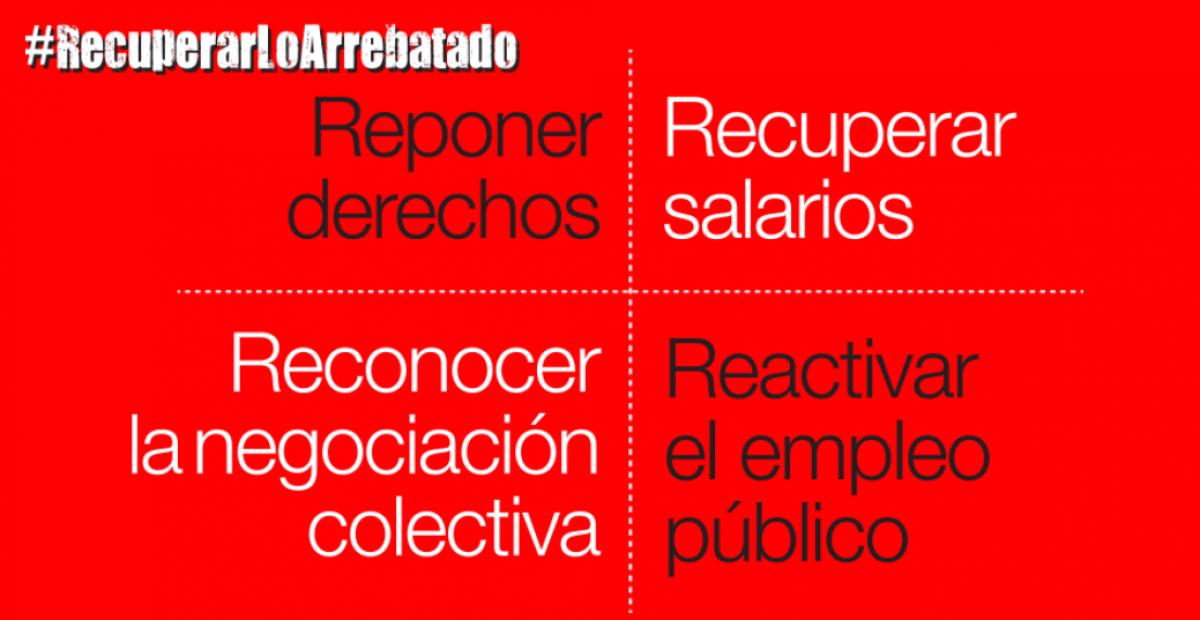 Campaña #RecuperarLoArrebatado