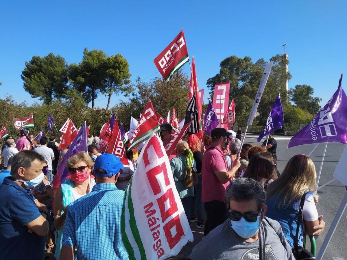 Imagen de la concentración del pasado lunes 20 de septiembre en la Universidad de Córdoba