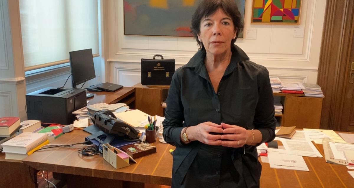 La ministra de Educación y FP, Isabel Celaá.