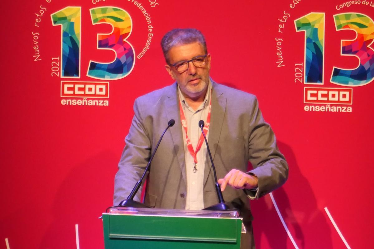 Francisco García Suárez renueva su mandato al frente de la Federación de Enseñanza de CCOO