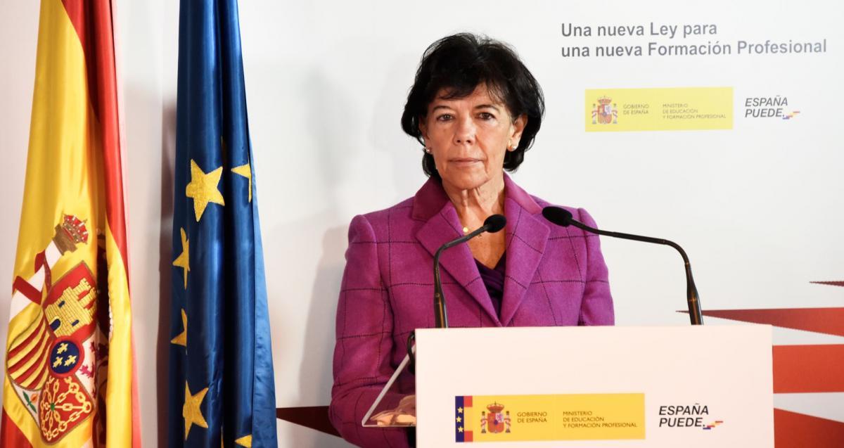 La ministra en la inauguración del foro virtual 'Una nueva Ley para una nueva Formación Profesional' el pasado diciembre.