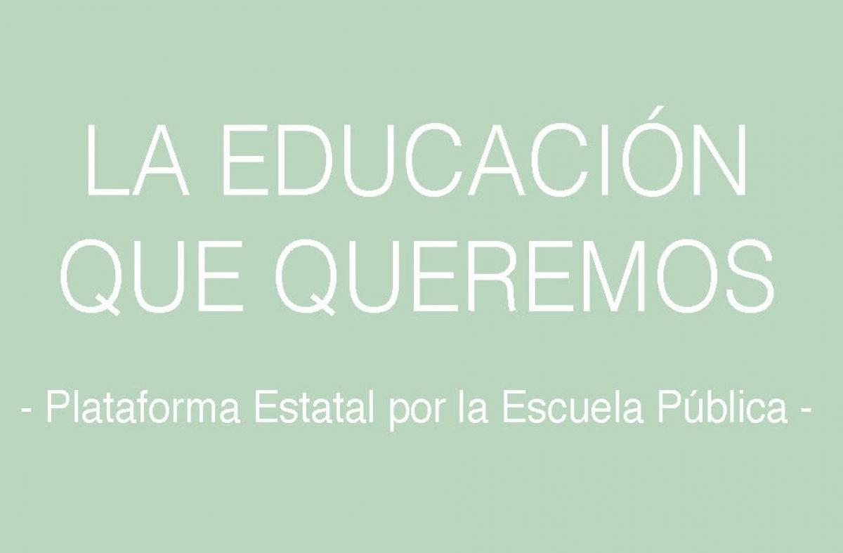"""Portada del documento """"La Educación que Queremos""""."""