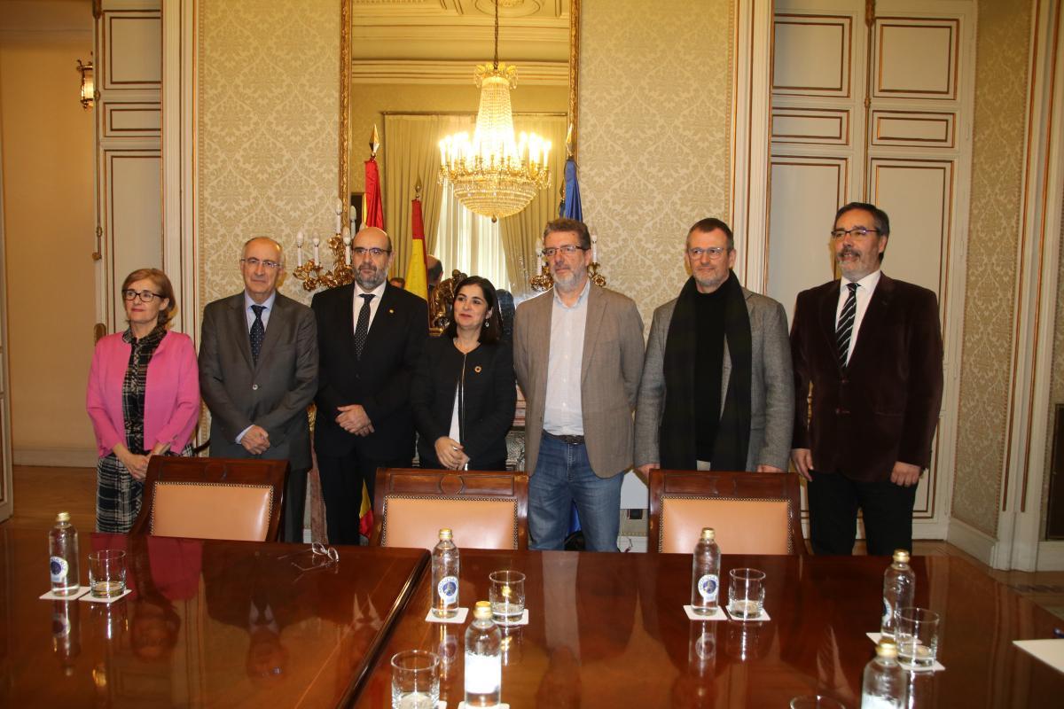 Reunión entre el Área Pública de CCOO y la ministra de Política Territorial y Función Pública